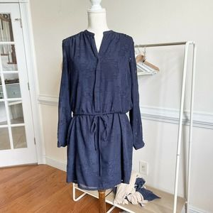 Katherine Barclay Navy Long Sleeve Dress Size 12